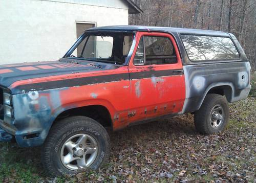 1979 Dodge Ramcharger 4X4 For Sale in Thomasville ...