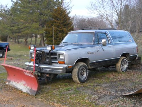 1987 Dodge Ramcharger With Snow Plow For Sale In Clayton