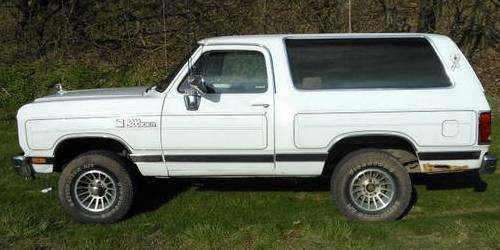 1989 Dodge Ramcharger For Sale in Lebanon, Pennsylvania - $2K