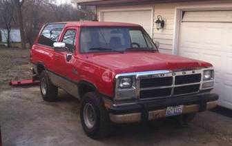 1993 dodge ramcharger canyon sport 318 for sale in racine wisconsin. Black Bedroom Furniture Sets. Home Design Ideas