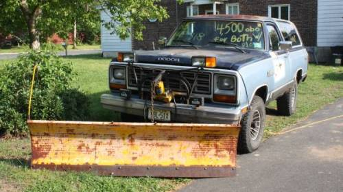 1985 dodge ramcharger prospector w plow for sale hamilton new jersey. Black Bedroom Furniture Sets. Home Design Ideas