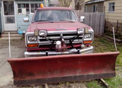1989 Dodge Ramcharger 4X4 with Snow Plow For Sale ...