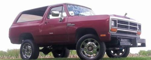 1990 dodge ramcharger 4x4 pulling truck for sale in lima ohio. Black Bedroom Furniture Sets. Home Design Ideas