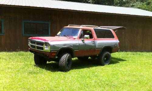 1991 dodge ramcharger auto 4x4 for sale in jackson mississippi. Black Bedroom Furniture Sets. Home Design Ideas