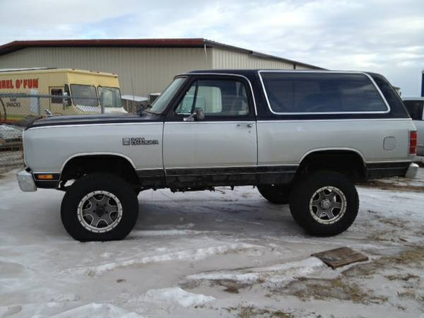 1986 dodge ramcharger 4wd for sale in north dakota nd. Black Bedroom Furniture Sets. Home Design Ideas