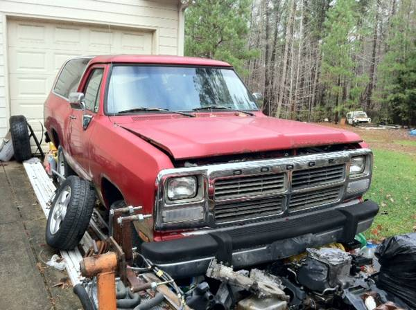1991 dodge ramcharger 4wd for sale in raleigh nc. Black Bedroom Furniture Sets. Home Design Ideas