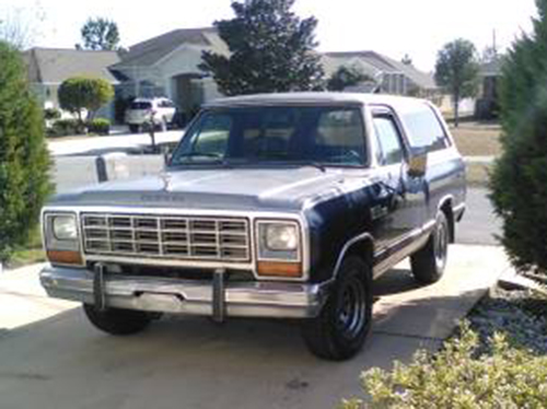 1984 dodge ramcharger 318 for sale in daytona fl. Black Bedroom Furniture Sets. Home Design Ideas