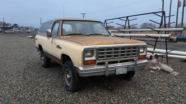 Tri Cities Dodge >> 1984 Dodge Ramcharger 4wd For Sale In Tri Cities Wa