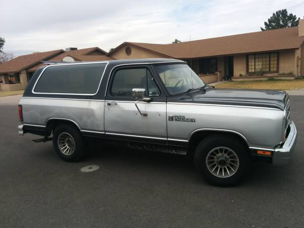 1986 Dodge Ramcharger 2wd For Sale In Chandler Arizona