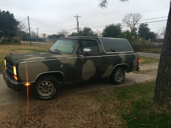 1989 dodge ramcharger for sale in manvel tx. Black Bedroom Furniture Sets. Home Design Ideas