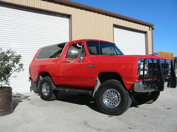 1993 4x4 dodge ramcharger for sale in blanco tx. Black Bedroom Furniture Sets. Home Design Ideas