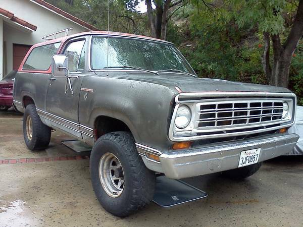 1974 Dodge Ramcharger For Sale in La Mesa CA