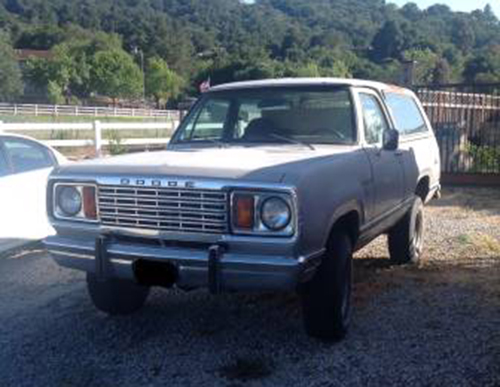 1978 4x4 Dodge Ramcharger For Sale in Morgan Hill CA