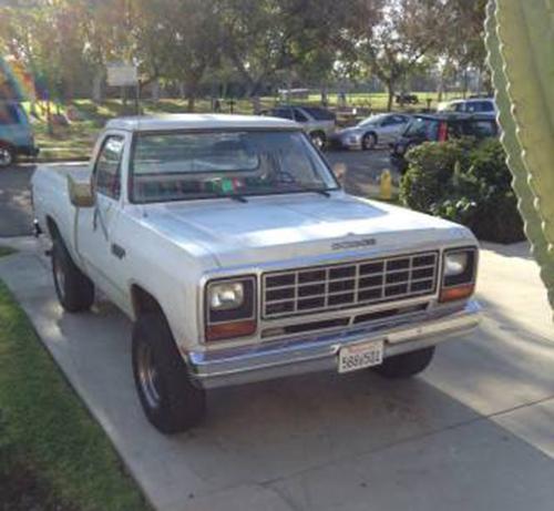 Dodge Ram 1500 Craigslist: 1985 4WD Dodge Ramcharger For Sale In Hollywood CA