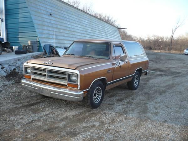 1987 RWD Dodge Ramcharger For Sale in Ozawkie KS