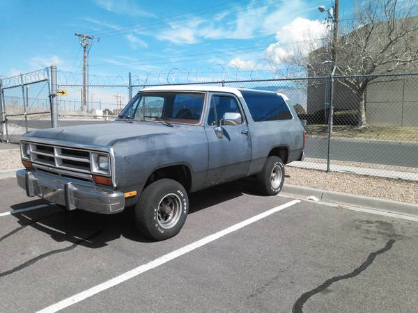 1988 dodge ramcharger for sale in los lunas nm. Black Bedroom Furniture Sets. Home Design Ideas