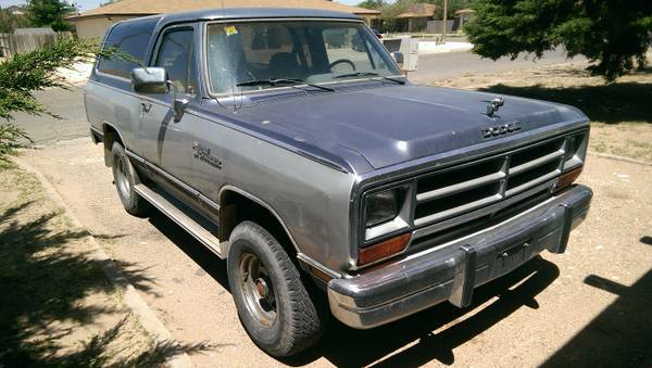 1988 dodge ramcharger for sale in santa fe nm. Black Bedroom Furniture Sets. Home Design Ideas