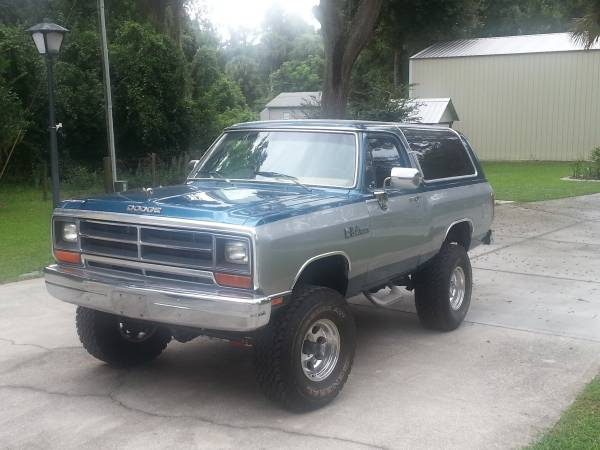 1989 4wd dodge ramcharger for sale in orlando fl. Black Bedroom Furniture Sets. Home Design Ideas