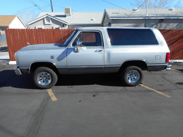 Used Cars Salisbury Md >> 1990 4WD Dodge Ramcharger For Sale in Reno NV