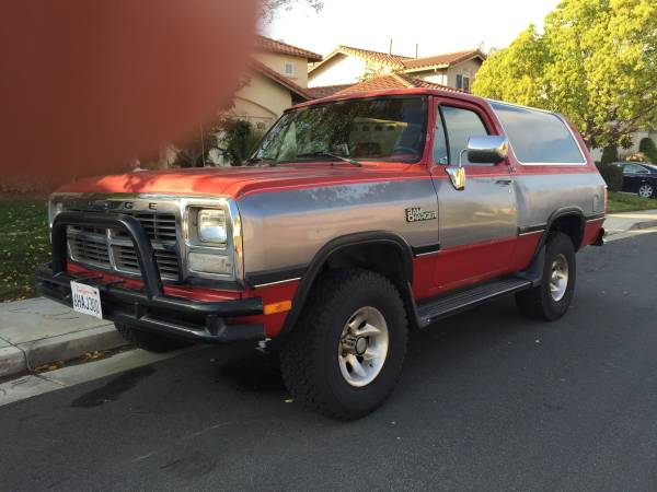 1991 Dodge Ramcharger For Sale in Temecula CA