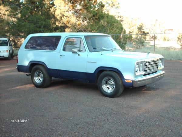 1977 dodge ramcharger for sale in show low az. Black Bedroom Furniture Sets. Home Design Ideas