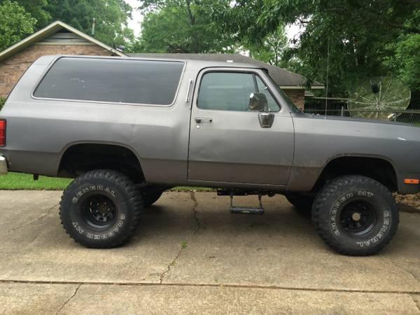 Craigslist Missoula Mt >> 1990 Dodge Ramcharger For Sale in Baton Rouge LA