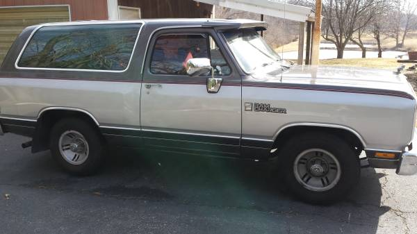 1990 RWD Dodge Ramcharger For Sale in Ofallon IL