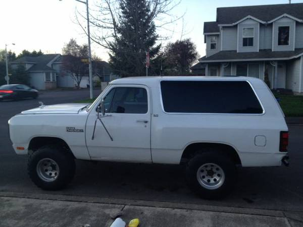 1992 dodge ramcharger for sale in portland or. Black Bedroom Furniture Sets. Home Design Ideas