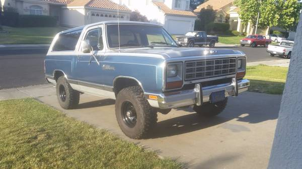 1984 318 Dodge Ramcharger For Sale In Fairfield Ca