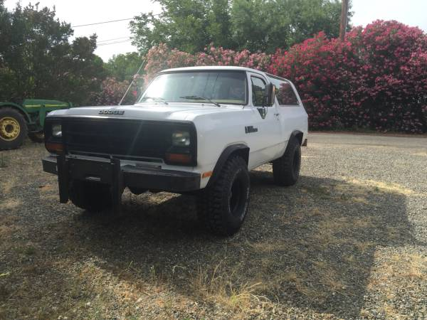 1989 4WD Dodge Ramcharger For Sale in Chico CA