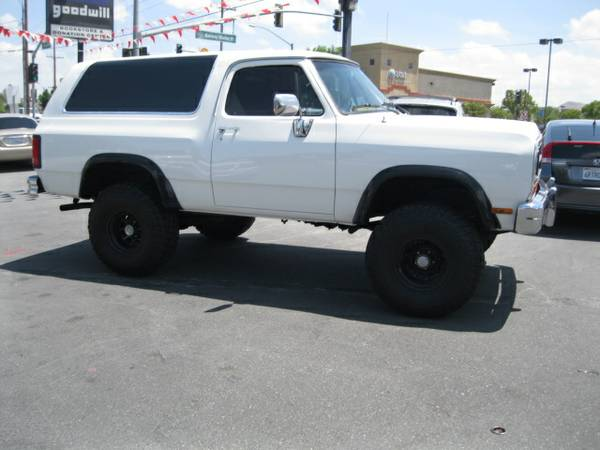 1988 dodge ramcharger 5 2l v8 auto for sale in norco ca. Black Bedroom Furniture Sets. Home Design Ideas