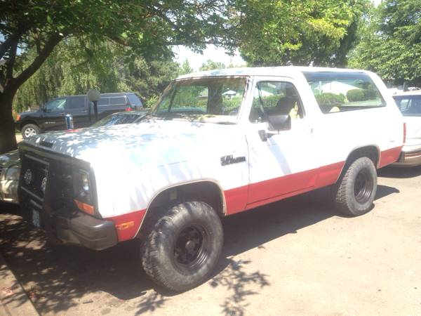 1988 Dodge Ramcharger 360CID Auto For Sale in Medford OR