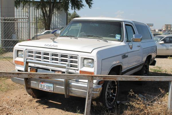 1989 dodge ramcharger automatic for sale in lubbock tx. Black Bedroom Furniture Sets. Home Design Ideas