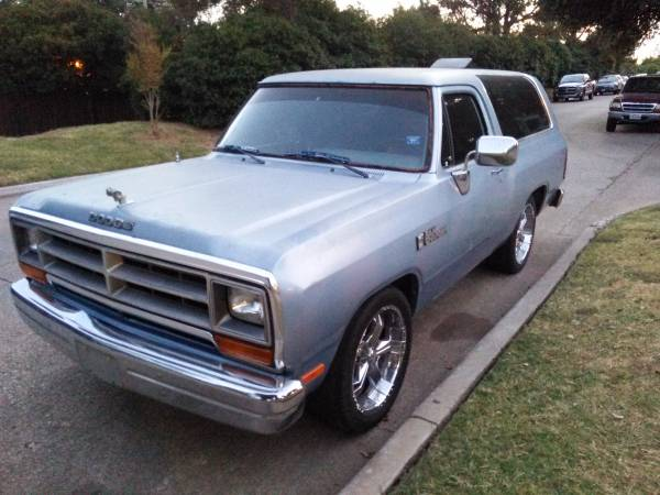 1989 dodge ramcharger good condition for sale in dallas tx. Black Bedroom Furniture Sets. Home Design Ideas