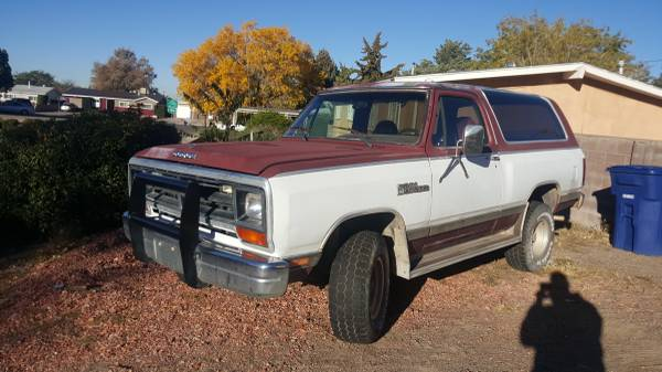 1987 Dodge Ramcharger 5 9l 360ci For Sale In Albuquerque Nm