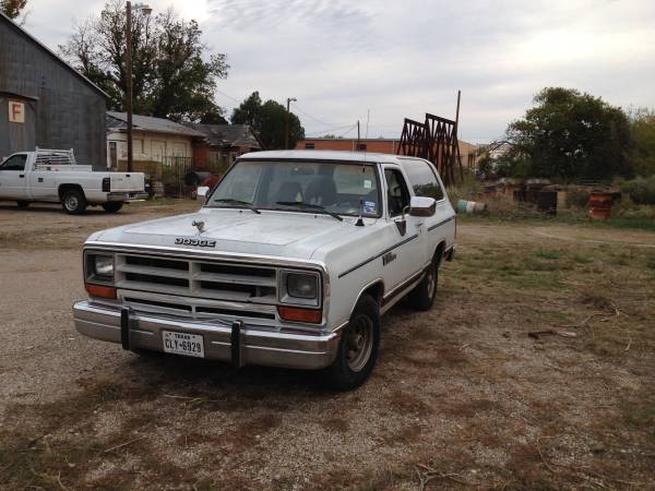 1989 Dodge Ramcharger Automatic For Sale In Wichita Falls, TX