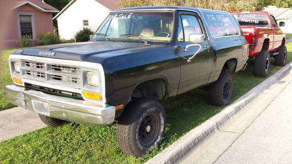 1986 Dodge Ramcharger 360 V8 Auto For Sale In St Cloud Fl