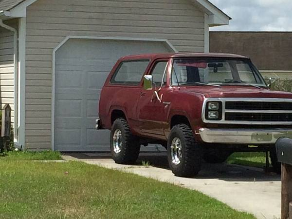 1980 Dodge Ramcharger V8 Auto For Sale in Wilmington, NC