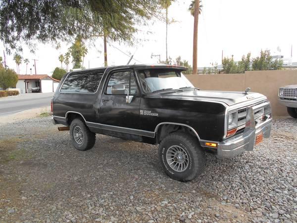 1988 dodge ramcharger 318 v8 auto for sale in tucson az. Black Bedroom Furniture Sets. Home Design Ideas