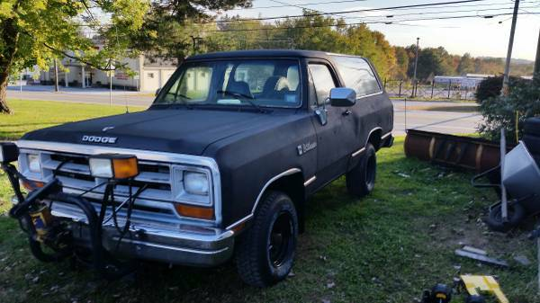 1989 Dodge Ramcharger Plow Truck For Sale In Coatesville, PA