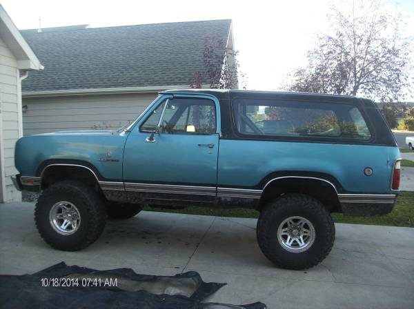 1974 Dodge Ramcharger Automatic For Sale In Bozeman Mt
