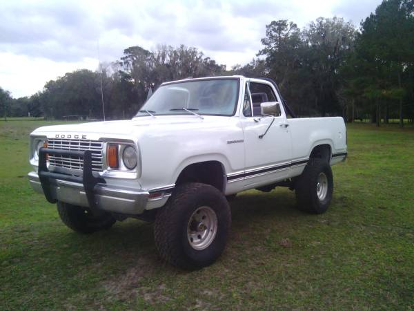 1978 dodge ramcharger v6 manual for sale in florida heartland fl. Black Bedroom Furniture Sets. Home Design Ideas