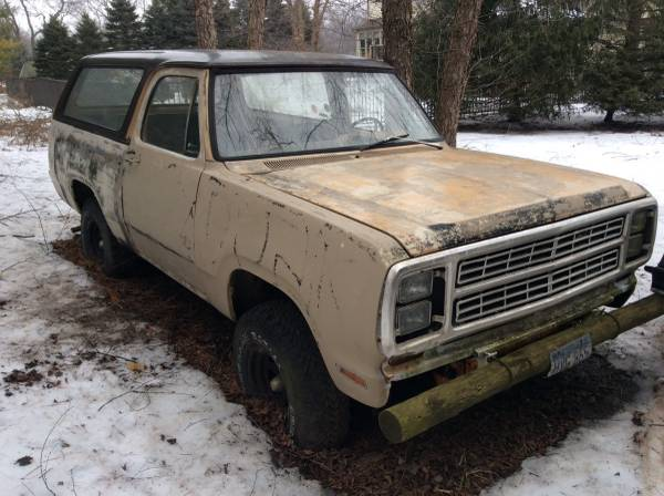 1979 Dodge Ramcharger V8 Auto For Sale in McHenry, IL