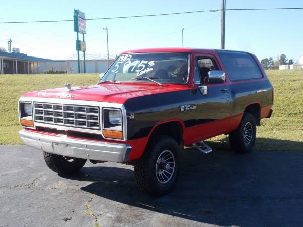 1982 dodge ramcharger 318 v8 auto for sale in clover sc. Black Bedroom Furniture Sets. Home Design Ideas