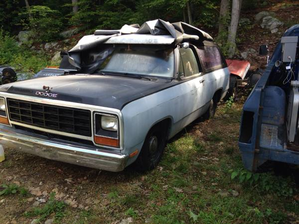 1983 dodge ramcharger v8 auto for sale in ashburnham ma. Black Bedroom Furniture Sets. Home Design Ideas