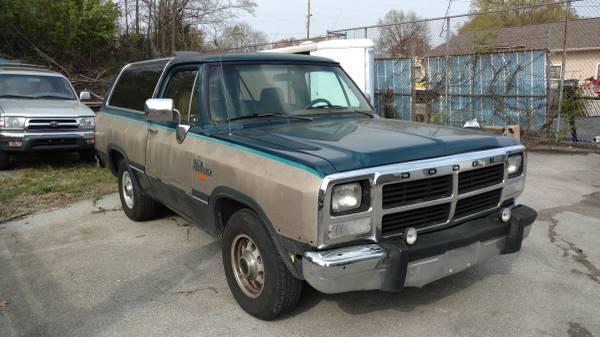 1993 dodge ramcharger auto for sale in chattanooga tn. Black Bedroom Furniture Sets. Home Design Ideas