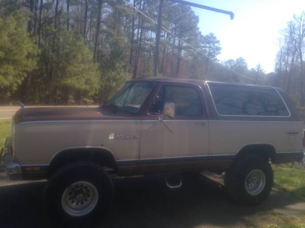 1984 Dodge Ramcharger Automatic For Sale in Richmond, VA