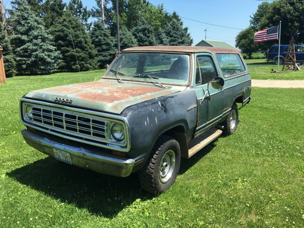 1979 Dodge Ramcharger 318 V8 Automatic For Sale in Chicago, IL