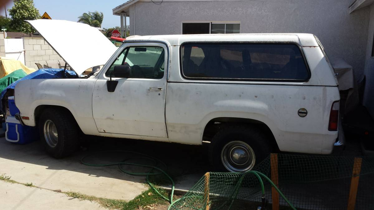 1979 Dodge Ramcharger 360 V8 Automatic For Sale in Los ...