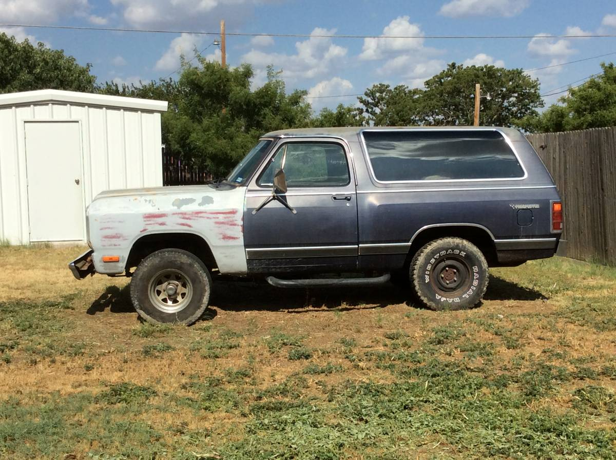 1985 dodge ramcharger 360 automatic for sale in odessa tx. Black Bedroom Furniture Sets. Home Design Ideas